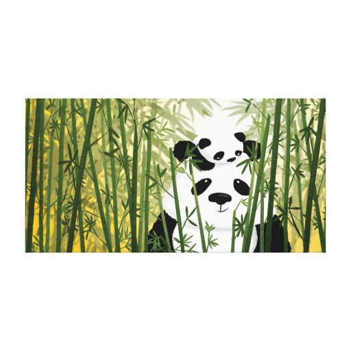"""Panda Family Large """"Gentle Giant"""" Stretched Canvas Prints"""