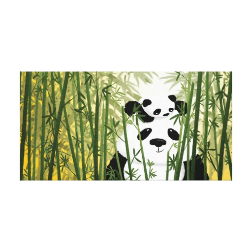 "Panda Family Medium ""Gentle Giant"" Canvas Prints"
