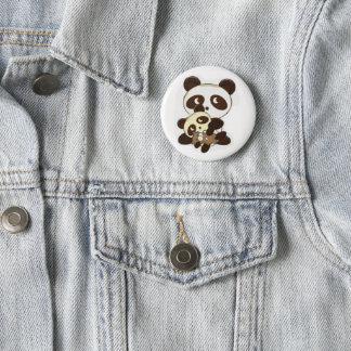 Panda Family Pinback Button