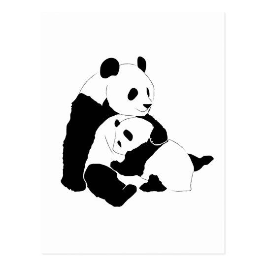 Panda Family Postcard