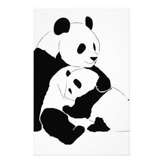 Panda Family Personalized Stationery