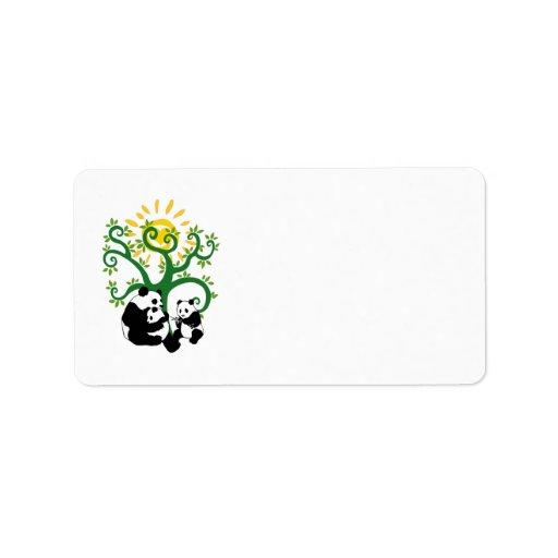 Panda Family Tree Address Label