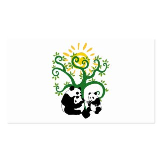 Panda Family Tree Business Card Templates
