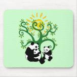 Panda Family Tree Mouse Pad