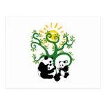 Panda Family Tree Post Cards