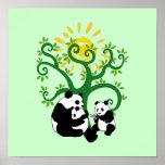 Panda Family Tree Poster