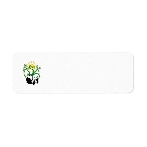 Panda Family Tree Return Address Label
