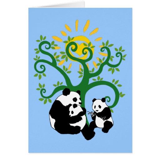 Panda Family Tree Stationery Note Card