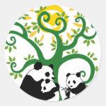 Panda Family Tree Stickers