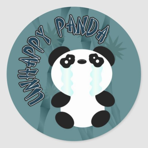 Panda feliz de la O.N.U Pegatina Redonda