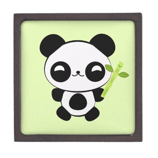 Panda feliz del bebé caja de regalo de calidad
