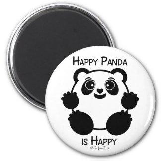Panda feliz imán redondo 5 cm