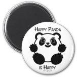 Panda feliz imán para frigorífico