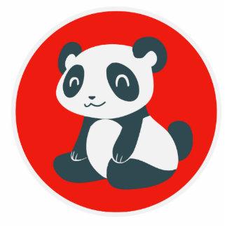 Panda feliz linda del dibujo animado escultura fotografica