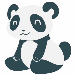 Panda feliz linda del dibujo animado esculturas fotográficas