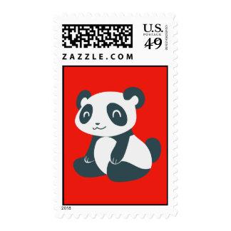 Panda feliz linda del dibujo animado sellos