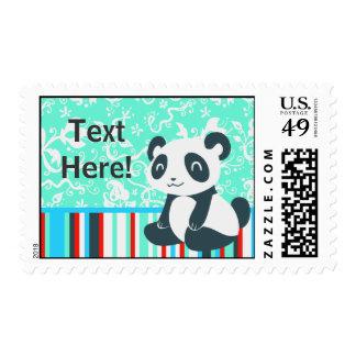 Panda feliz linda del dibujo animado envio