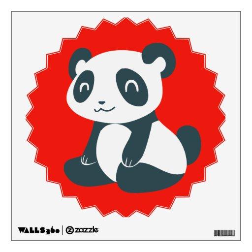 Panda feliz linda del dibujo animado vinilo