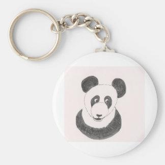 Panda feliz llavero redondo tipo pin