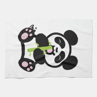 Panda feliz toalla de cocina