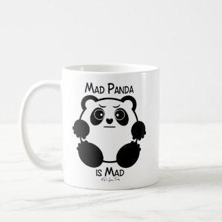 Panda feliz/panda enojada taza básica blanca