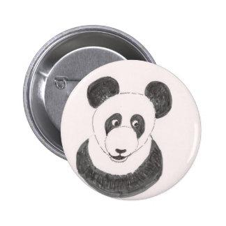 Panda feliz pin redondo de 2 pulgadas