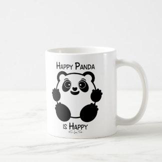 Panda feliz taza básica blanca
