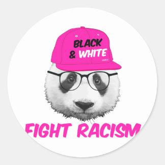 PANDA FIGHT RACISM STICKER