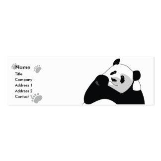 Panda - flaca plantilla de tarjeta de negocio