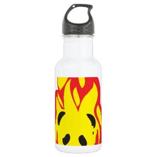 panda flame fire stainless steel water bottle