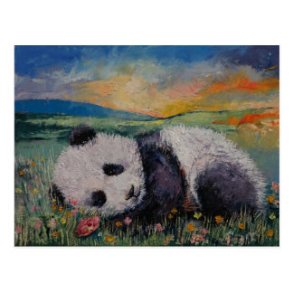 Panda Flowers Post Card