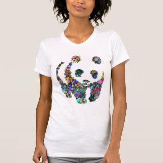 panda flowers tshirt