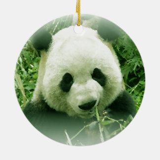 Panda Forest Grass Leaves Christmas Tree Ornament