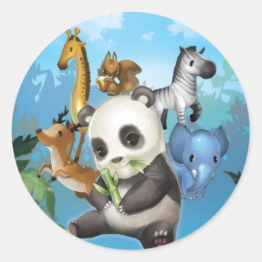 panda & friend sticker