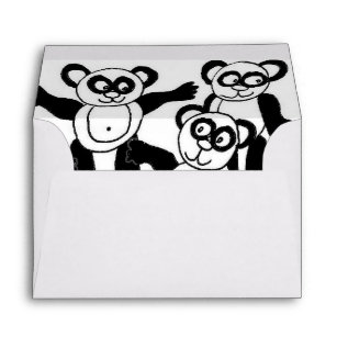 cute panda envelopes zazzle Square Envelope Sizes panda friends envelope