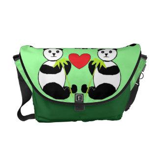 Panda Friends Messenger Bag