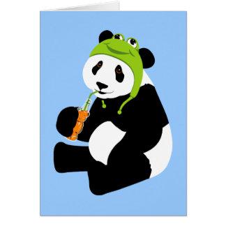 Panda Frog Hat (birthday) Stationery Note Card