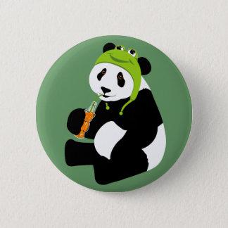 Panda Frog Hat Pinback Button