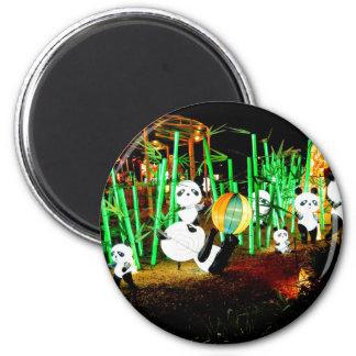 Panda Garden Light Up Night Photography Magnet