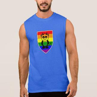 Panda gay del arco iris de la garra de oso - camis
