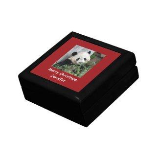 Panda Gift Box, Red Trim