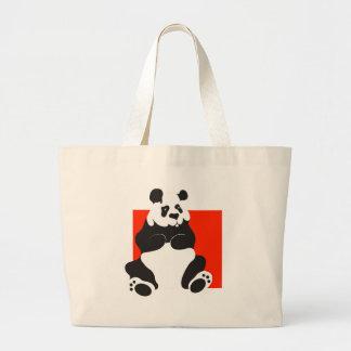 Panda gigante bolsa de tela grande