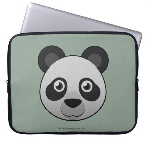 Panda gigante de papel fundas portátiles