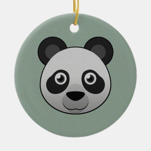 Panda gigante de papel ornamento de navidad