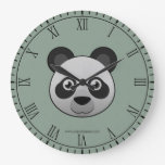 Panda gigante de papel relojes de pared
