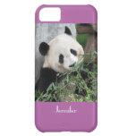 panda gigante del caso del iPhone 5c, orquídea,