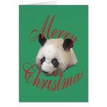 Panda gigante del navidad tarjeton