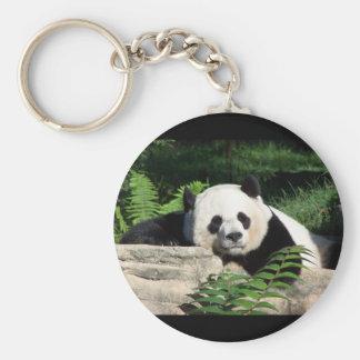 Panda gigante Napping Llavero Redondo Tipo Pin