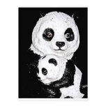 Panda gigante y Cub Invitación Personalizada