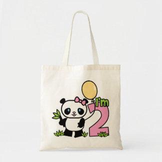 Panda Girl 2nd Birthday Tote Bag